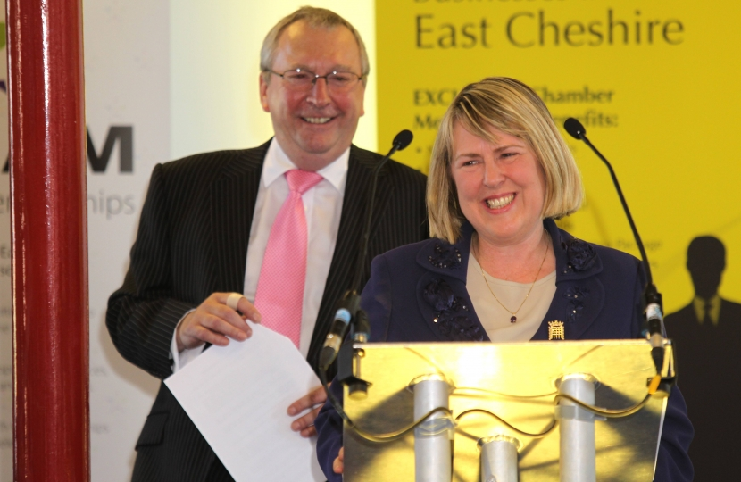 Fiona Bruce MP speaking at the Business in East Cheshire Open Day