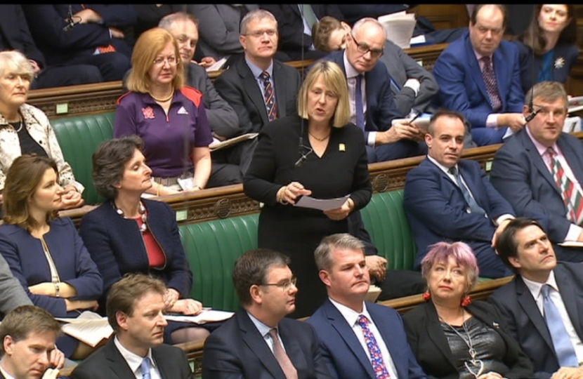 Fiona Bruce MP addressing MPs in the House of Commons