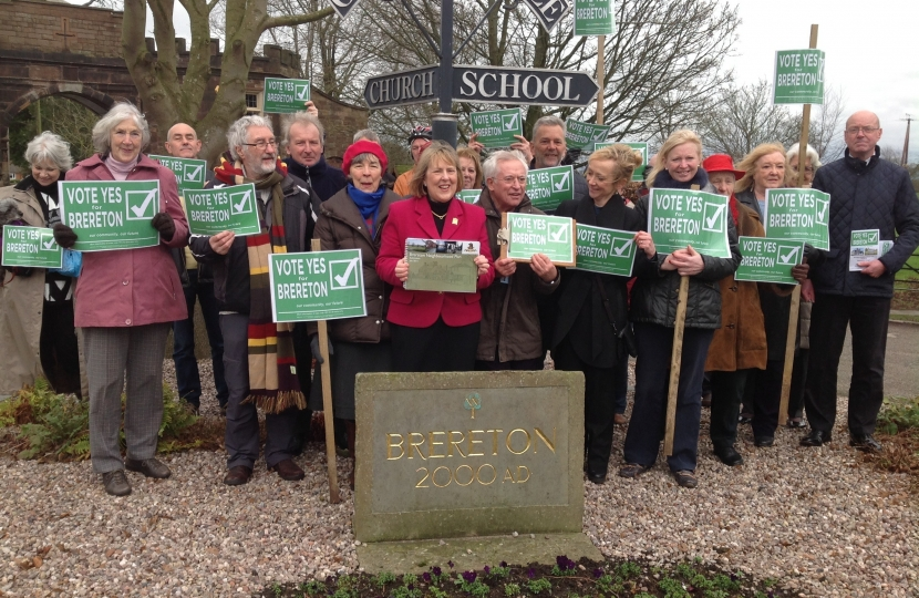 Fiona Bruce MP campaigns with Brereton residents