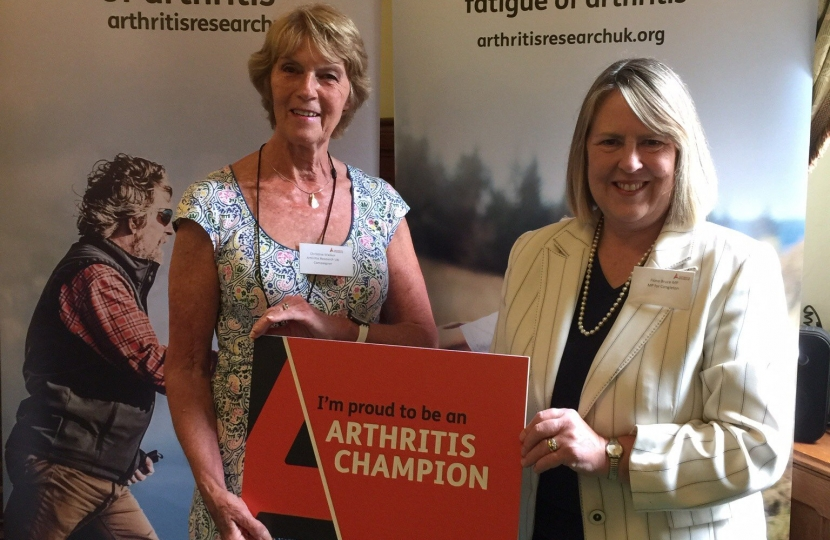 Arthritis UK Fiona with Christine Walker
