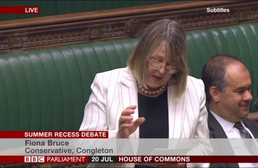 Fiona Speaks in Parliament