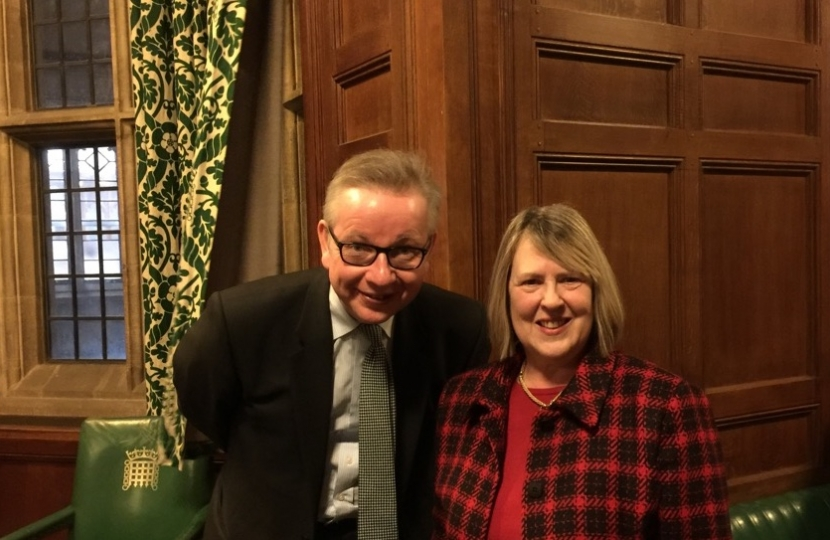 Fiona with Michael Gove