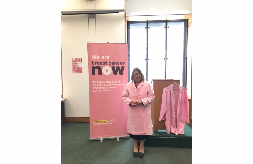 Fiona at Breast Cancer Now event