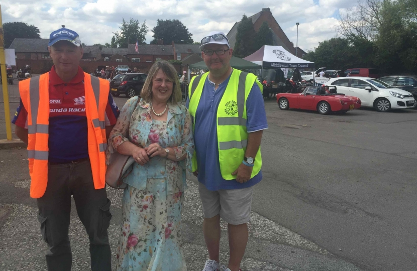 Fiona at Middlewich Classic Car and Bike Show