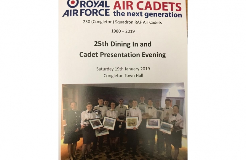 Congleton Air Cadets Dining In Night