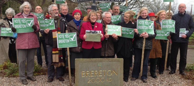 Fiona Bruce MP campaigning with Brereton residents