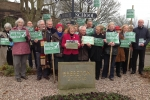 Fiona Bruce campaigns with Brereton residents