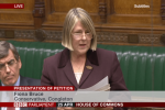 Fiona Bruce MP speaks to Parliament