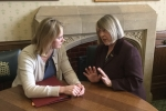 Fiona Bruce lobbying Education Secretary Justine Greening on schools funding for the Congleton Constituency