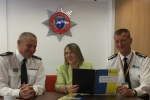 Fiona meets Fire Officers