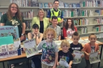 Fiona presents Reading Certificates at Middlewich Library