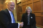Fiona with Chris Grayling